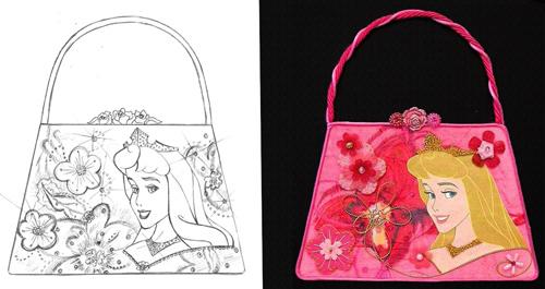 Aurora hand bag & sketchLR