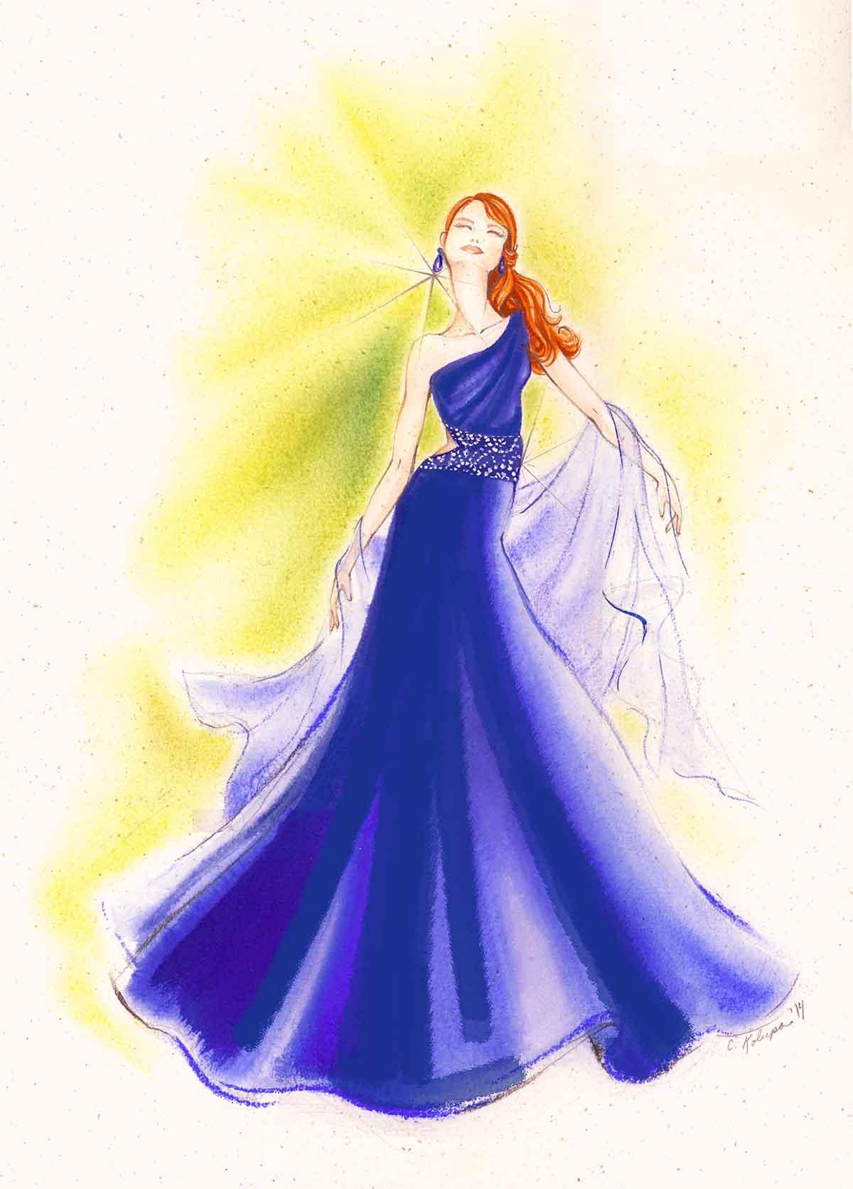 blue dress_flat