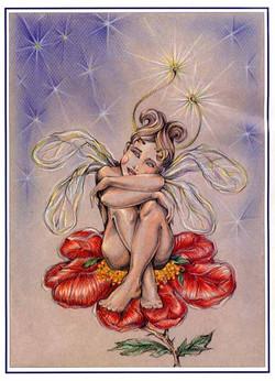 portfolio piece_fairy on flower