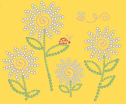 beaded daisies_dandelion
