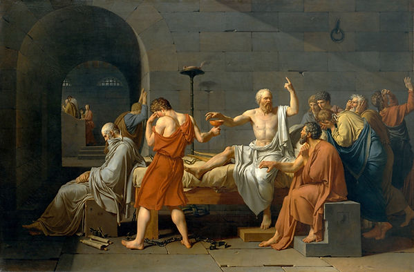 The Death of Socrates, Jacques Louis David, 1787