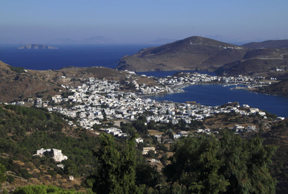 The island of Patmos today