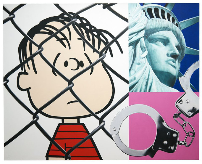Caged (Appropriation Series)