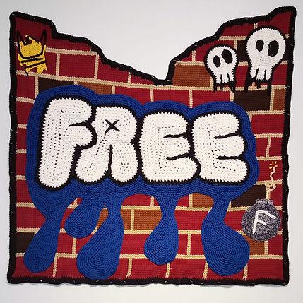 The Wall yarn art