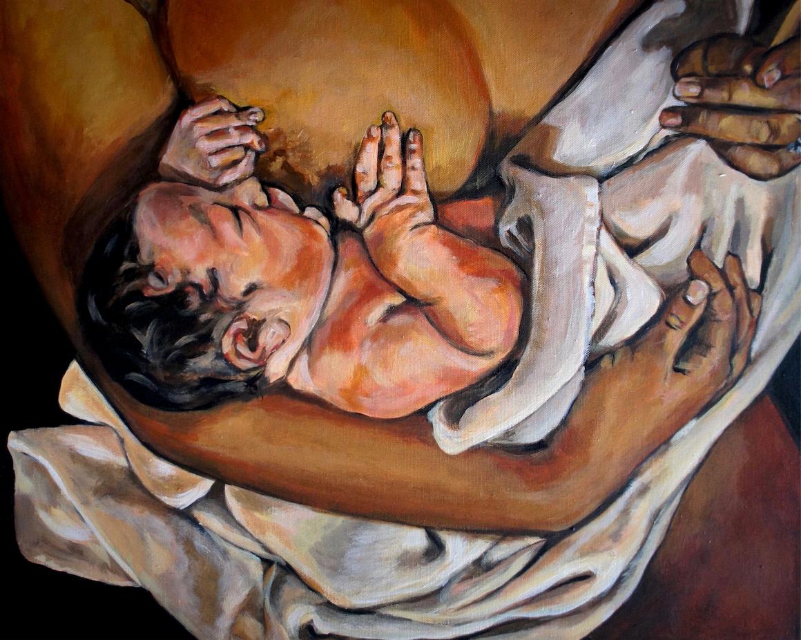 Breastfeeding with Towel