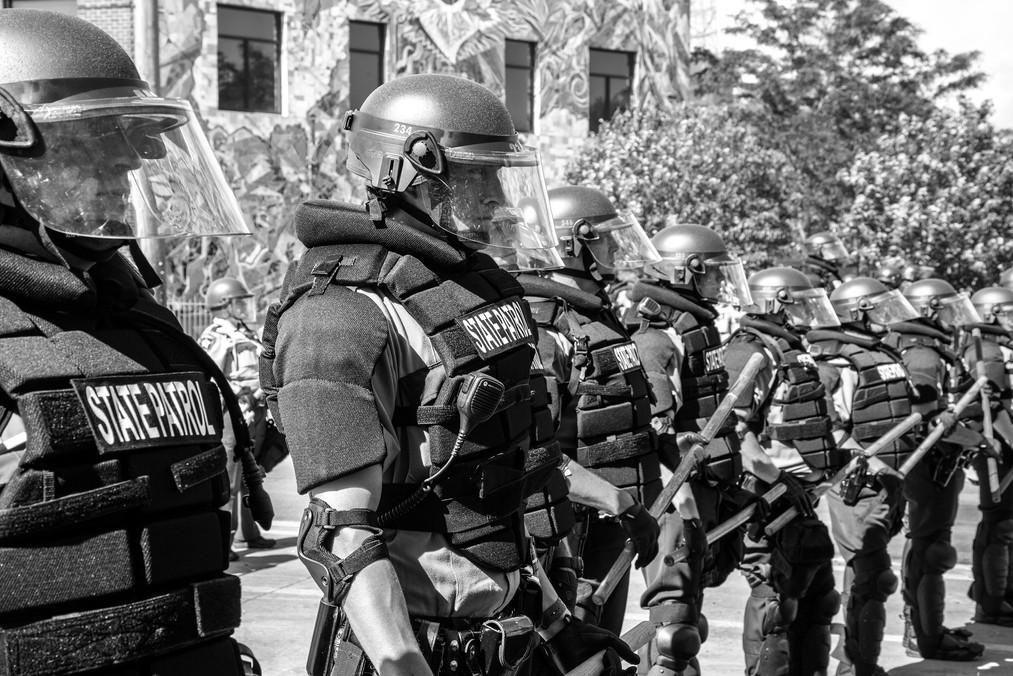 State Patrol, 3rd Precinct Barricade (Minnehaha Ave, Minneapolis)