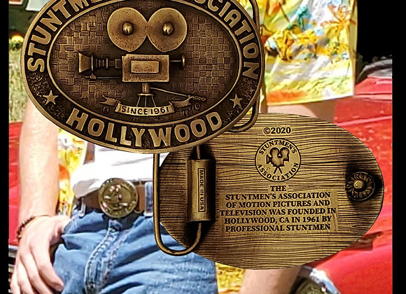 "Stuntmen's Association Vintage Collectable Buckle | Buckle worn by Lead actor in ""Once Upon A Time In Hollywood"""