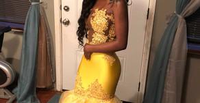 Prom 2018 Dress #2 (Yellow)