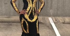 Prom 2018 Dress #6 (Black and Gold)