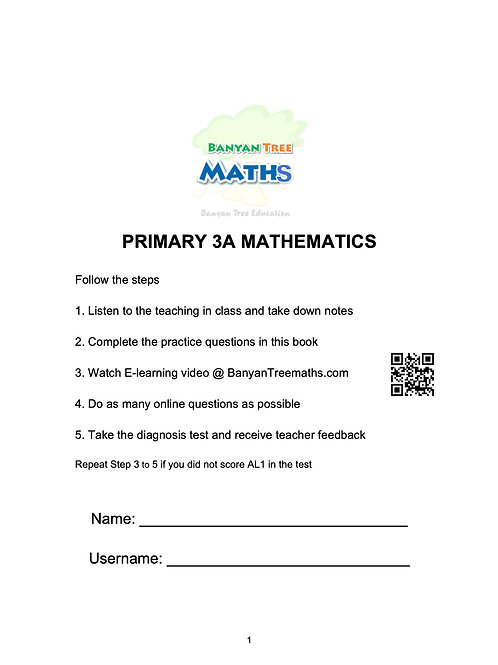 PRIMARY 3A MATH