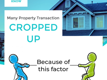 Why many property transaction cropped up because of THIS FACTOR?