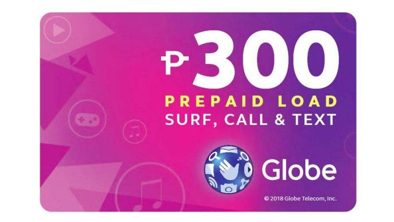 Globe Prepaid Call Card with P300 Prepaid Load