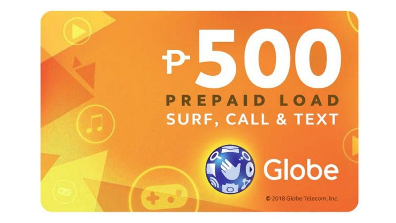 Globe Prepaid Call Card with P500 Prepaid Load