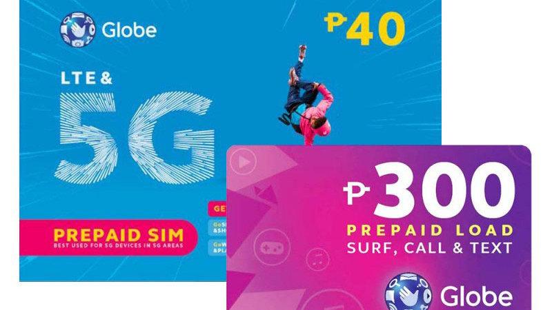 Globe Sim with 300 Pesos Load
