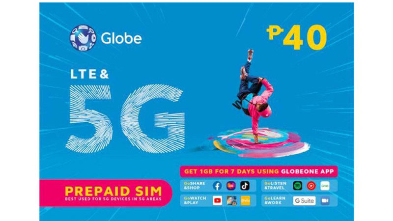 Globe Sim +Delivery Charge.