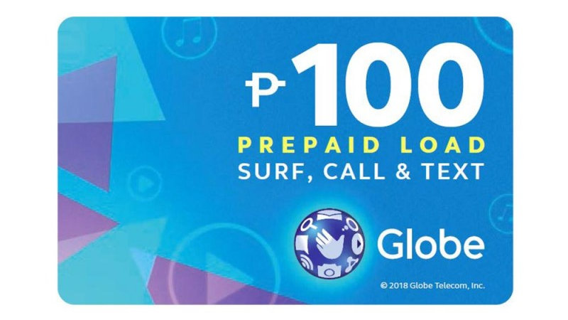 Globe Prepaid Call Card with P100 Prepaid Load
