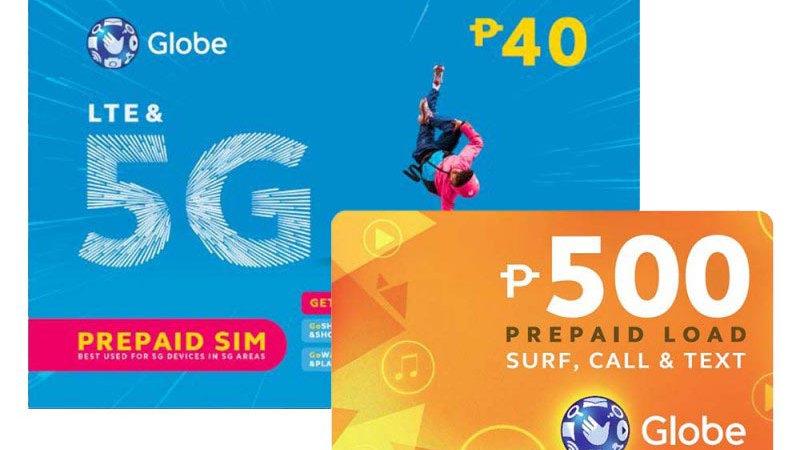 Globe Sim + 500 Pesos Load
