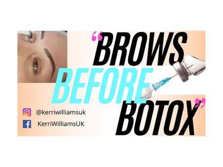 Brows before Botox!
