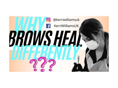 Why do brow tattoos heal differently to how they first look?