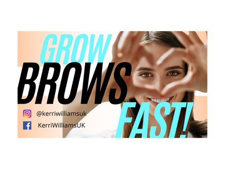 How to grow in your eyebrows FAST!