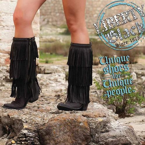Women's Liberty Black Vintage Vegas Fringe Boots