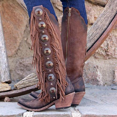 Women's Liberty Black Boots NuBuck Chocolate Stonewash