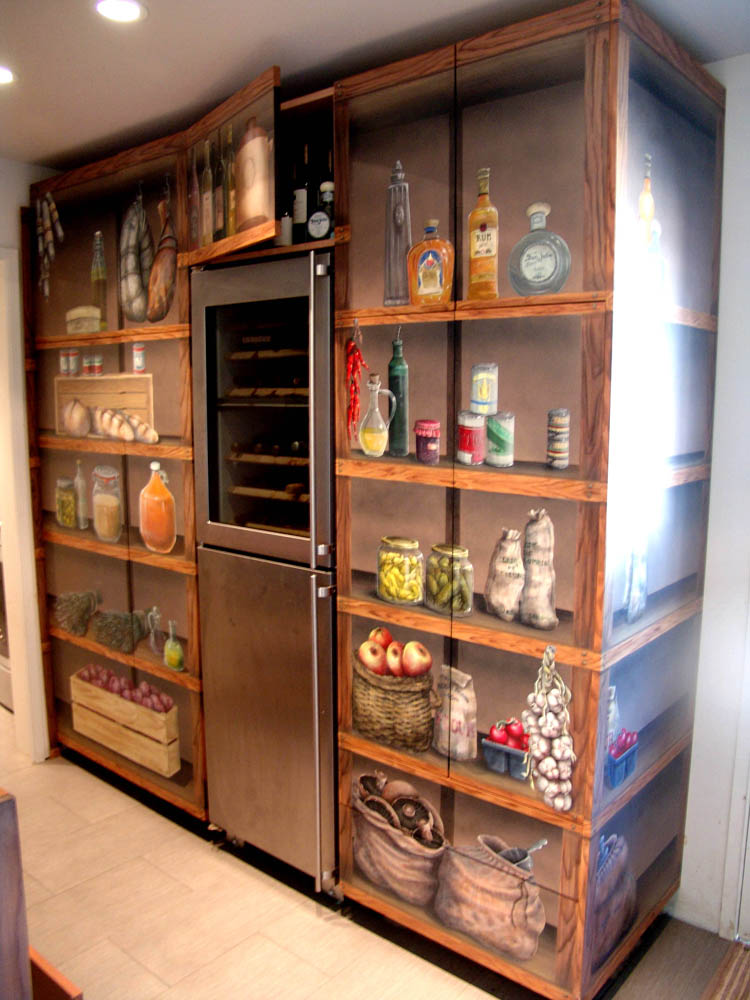 pantry cabinet illusion