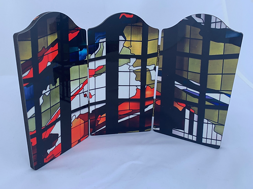 Lovers Lane Stained Glass Trifold
