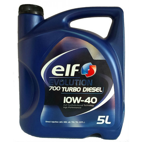 ELF EVOLUTION 700 TURBO DIESEL 10W40 x5L