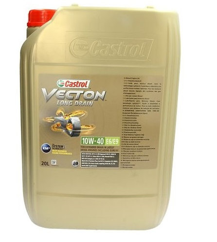 CASTROL VECTION LD 10W40 E6/E9 x20L