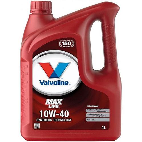 VALVOLINE MAXLIFE 10W40 x4L