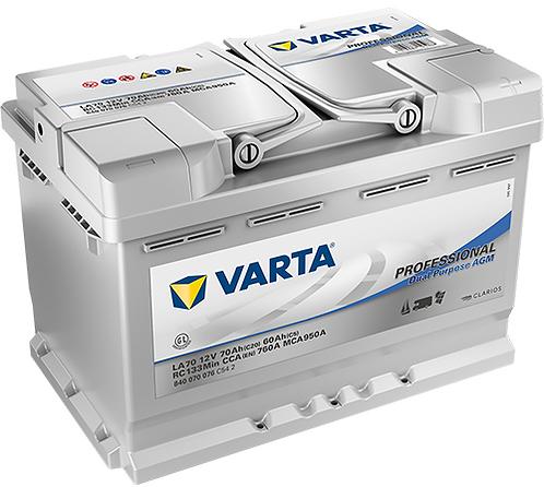 Акумулатор VARTA Professional Dual Purpose AGM 840 070 076