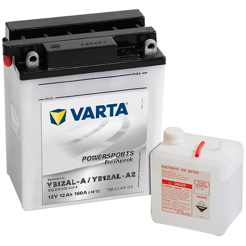 Акумулатор VARTA POWERSPORTS Freshpack 512 013 012 YB12AL-A