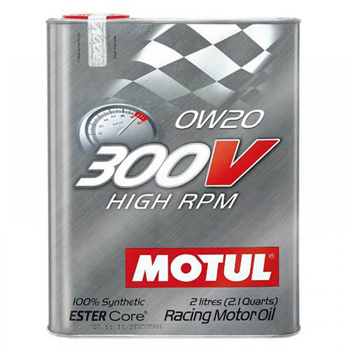 MOTUL 300V HIGH RPM 0W20 x2L
