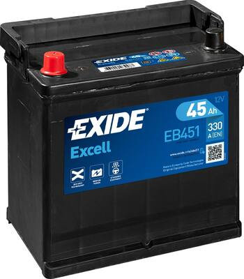 Акумулатор EXIDE Excell ** EB451