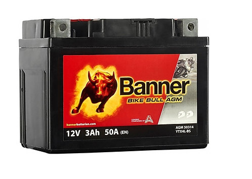 Акумулатор BANNER BIKE Bull AGM 503 14 / YTX4L-BS