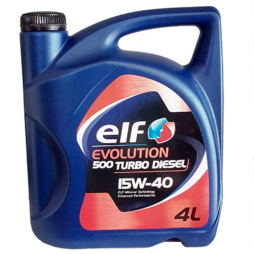 ELF EVOLITION 500 TURBO DIESEL 15W40 x4L