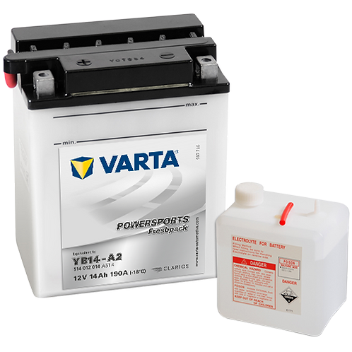 Акумулатор VARTA POWERSPORTS Freshpack 514 012 014 YB14-A2