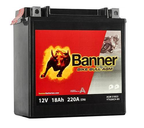 Акумулатор BANNER BIKE Bull AGM 518 22 / YTX20CH-BS
