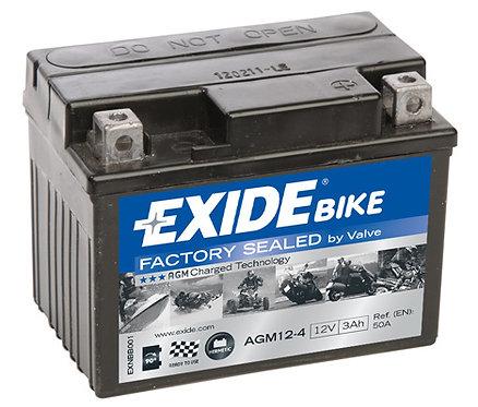 Акумулатор EXIDE Maintenance Free AGM 12-4