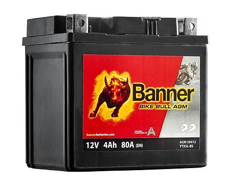 Акумулатор BANNER BIKE Bull AGM 504 12 / YTX5L-BS