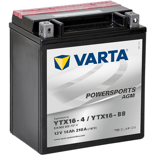 Акумулатор VARTA POWERSPORTS AGM 514 902 022 YTX16-BS