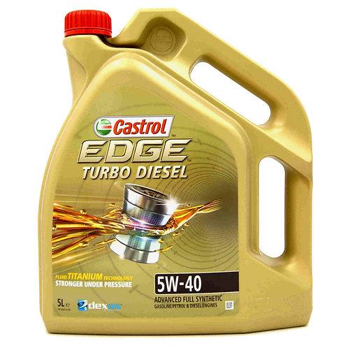 CASTROL EDGE TURBO DIESEL TITANIUM 5W40 x5L