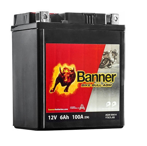 Акумулатор BANNER BIKE Bull AGM 506 14 / YTX7L-BS