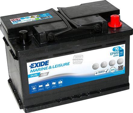 Акумулатор EXIDE Dual AGM EP600
