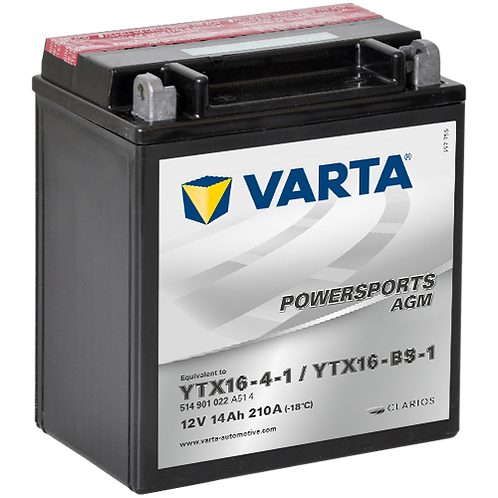 Акумулатор VARTA POWERSPORTS AGM 514 901 022 YTX16-BS-1