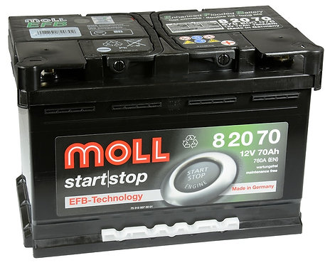 Акумулатор MOLL Start-Stop EFB 82070