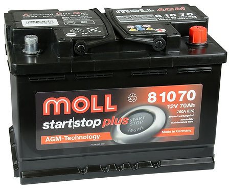 Акумулатор MOLL Start-Stop Plus AGM 81070