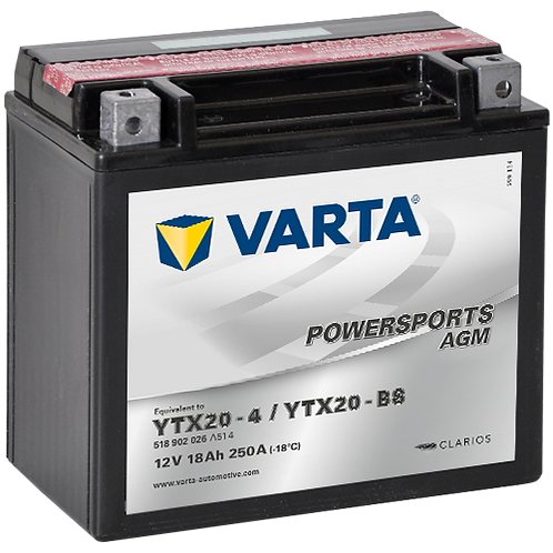 Акумулатор VARTA POWERSPORTS AGM 518 902 026 YTX20-BS
