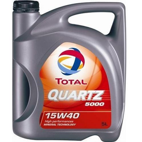 TOTAL QUARTZ  5000 15W40 x5L